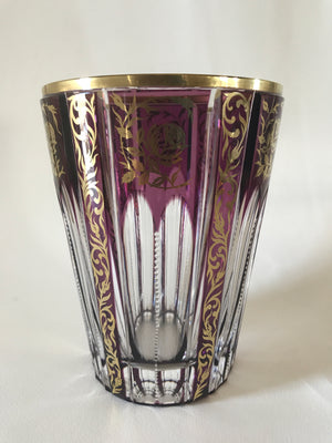 910029 Amethyst Cased With Fancy Gold Lines and Rim