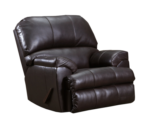4010 Soft Touch Rocker Leather Recliner (Putty or Bark)