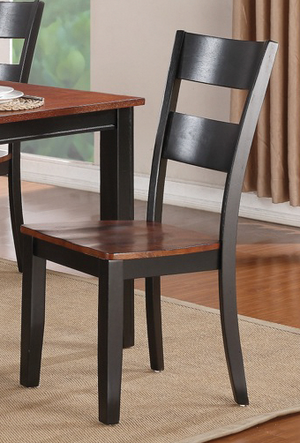 8202 Black & Cherry Leg Dining Room Set