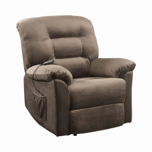 G601025 - Upholstered Power Lift Recliner - Brown Sugar or Chocolate