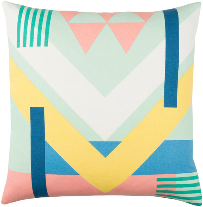 Lina Pillow Cover - Mint, Pale Pink, Cream, Butter, Dark Blue, Emerald, Sky Blue - INA005