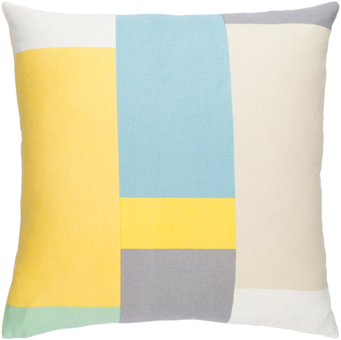 Lina Pillow Kit - Butter, Beige, Sky Blue, Cream, Medium Gray, Saffron, Mint - Poly - INA010
