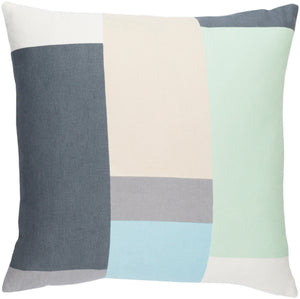 Lina Pillow Kit - Mint, Charcoal, Beige, Cream, Sky Blue, Medium Gray - Poly - INA011