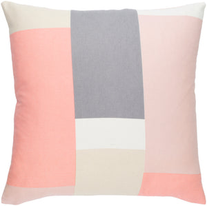 Lina Pillow Cover - Pale Pink, Medium Gray, Beige, Cream - INA012