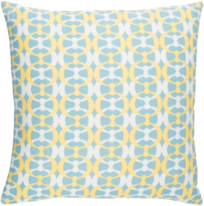 Lina Pillow Cover - Aqua, Butter, Cream - INA019