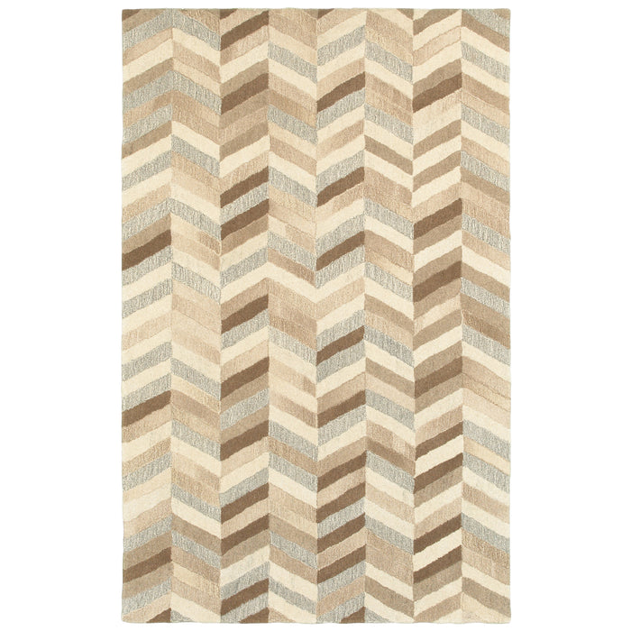 67005 Infused Indoor Area Rug Beige/ Grey