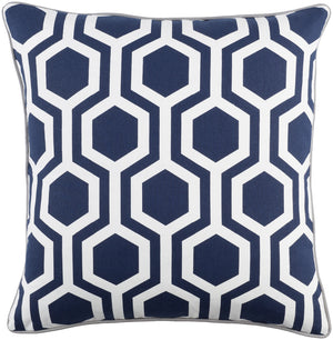 Inga Pillow Kit - Navy, White, Light Gray - Down - INGA7010