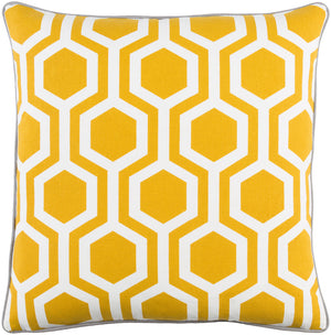 Inga Pillow Kit - Light Gray, Saffron, White - Poly - INGA7011