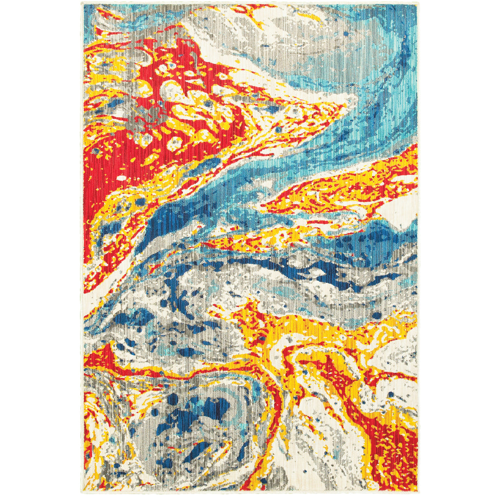 9642H Joli Indoor Area Rug Stone/ Multi - ReeceFurniture.com