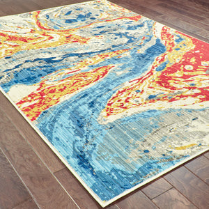 9642H Joli Indoor Area Rug Stone/ Multi