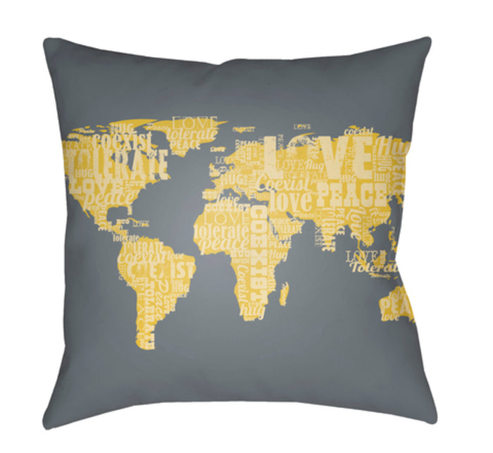 Jetset Pillow Cover - Teal, Butter, Bright Yellow - JT006