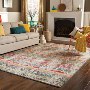 5992F Kaleidoscope Indoor Area Rug Multi/Grey