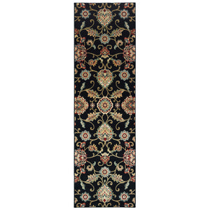 9946K Kashan Indoor Area Rug Black/ Multi - ReeceFurniture.com