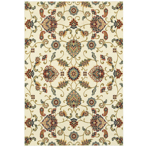 9946W Kashan Indoor Area Rug Ivory/ Multi - ReeceFurniture.com