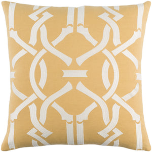 Kingdom Pillow Cover - Mustard, Ivory - KGDM7038