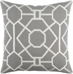 Kingdom Pillow Cover - Medium Gray, Ivory - KGDM7042