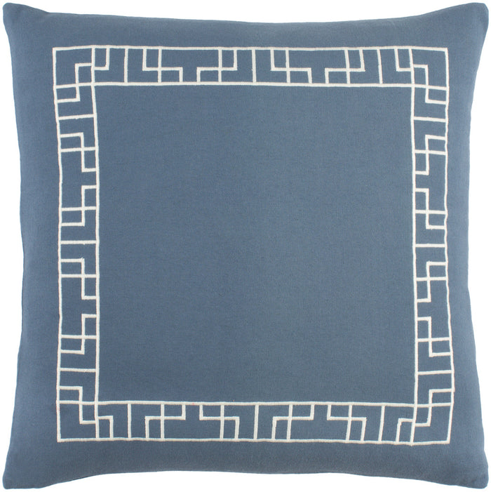 Kingdom Pillow Cover - Denim, Ivory - KGDM7065