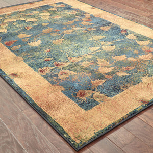 349B4 Kharma Indoor Area Rug Blue/Gold