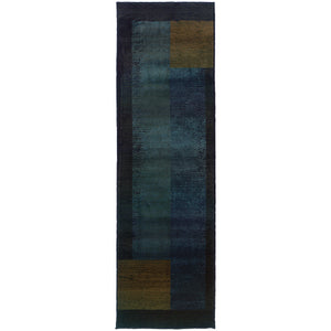 1092L Kharma II Indoor Area Rug Blue/Gold