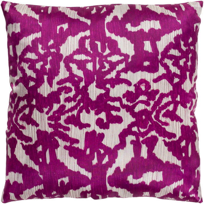 Lambent Pillow Cover - Ivory, Bright Purple, Camel - LAM004