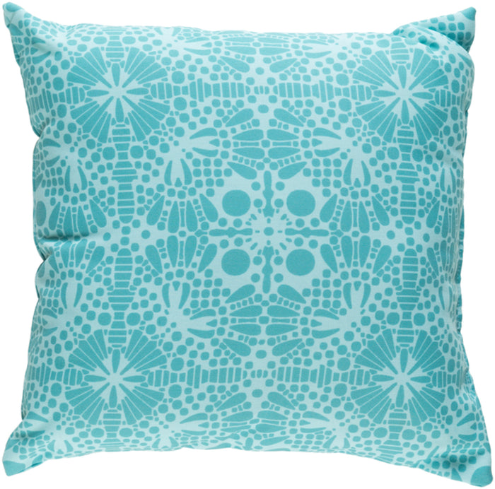 Laser Cut Pillow Cover - Teal, Mint - LC006
