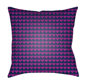 Littles Pillow Cover - Dark Blue, Bright Purple - LI016