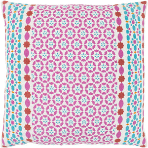 Lucent Pillow Kit - Bright Pink, Teal, Bright Yellow, Mint, Burnt Orange, White - Poly - LUE002 - ReeceFurniture.com