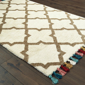 61405 Madison Indoor Area Rug Ivory/ Tan