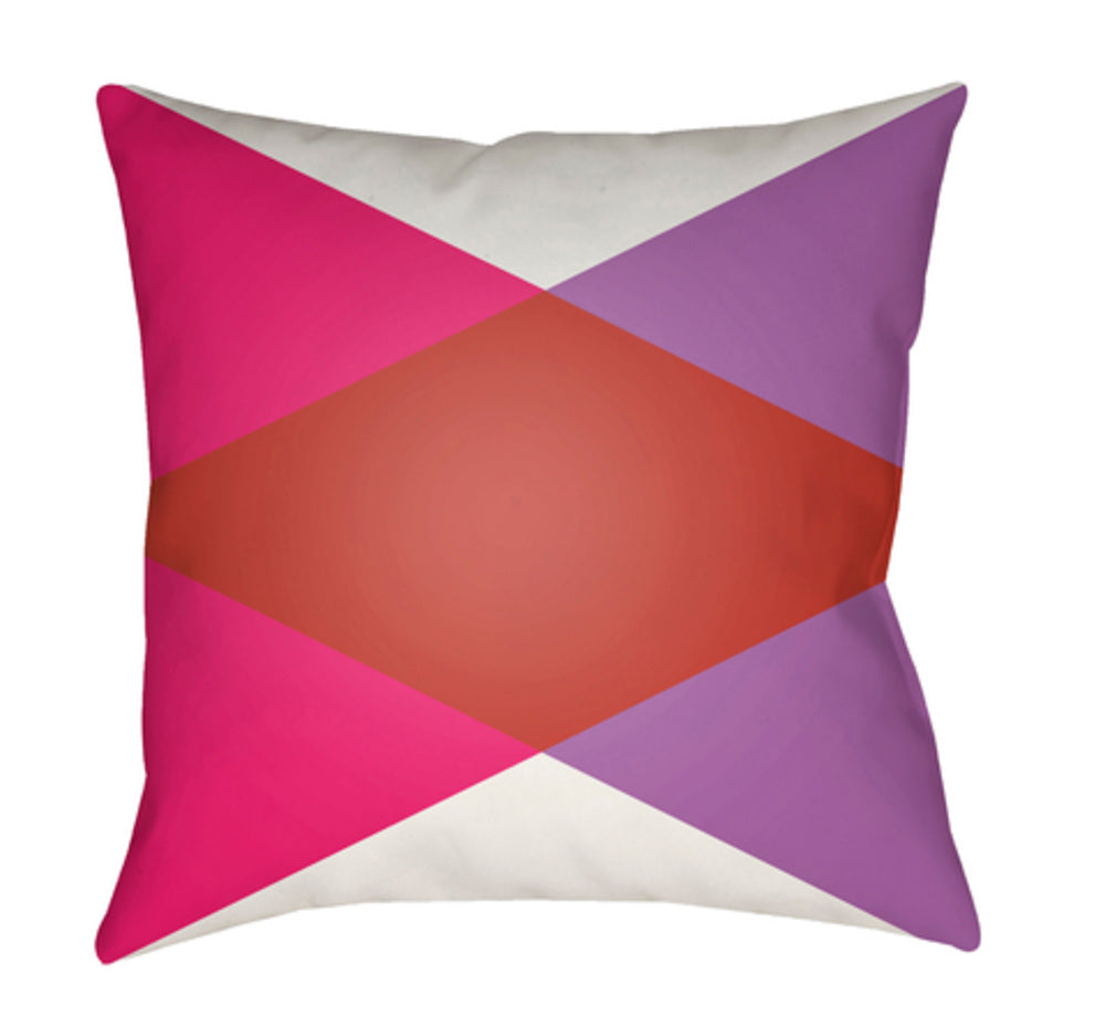 Moderne Pillow Cover - White, Bright Red, Bright Pink, Bright Purple - MD003