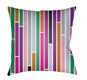 Moderne Pillow Cover - Dark Green, Emerald, White, Burnt Orange, Bright Pink - MD018