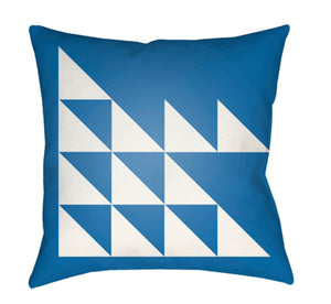 Moderne Pillow Cover - White, Bright Blue - MD024