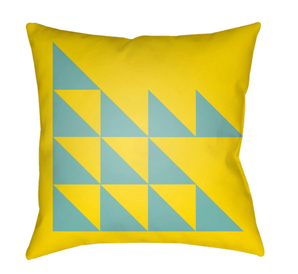 Moderne Pillow Cover - Bright Yellow, Aqua - MD030