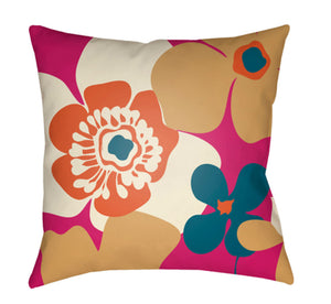 Moderne Pillow Cover - Bright Orange, White, Mustard, Bright Pink, Teal - MD037
