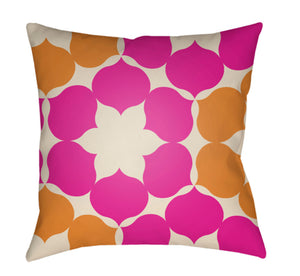 Moderne Pillow Cover - Cream, Bright Orange, Bright Pink - MD046