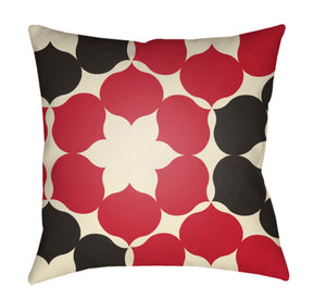 Moderne Pillow Cover - Cream, Bright Red, Black - MD052
