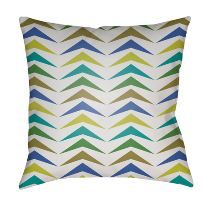 Moderne Pillow Cover - Bright Blue, Bright Yellow, Teal, White, Grass Green - MD056