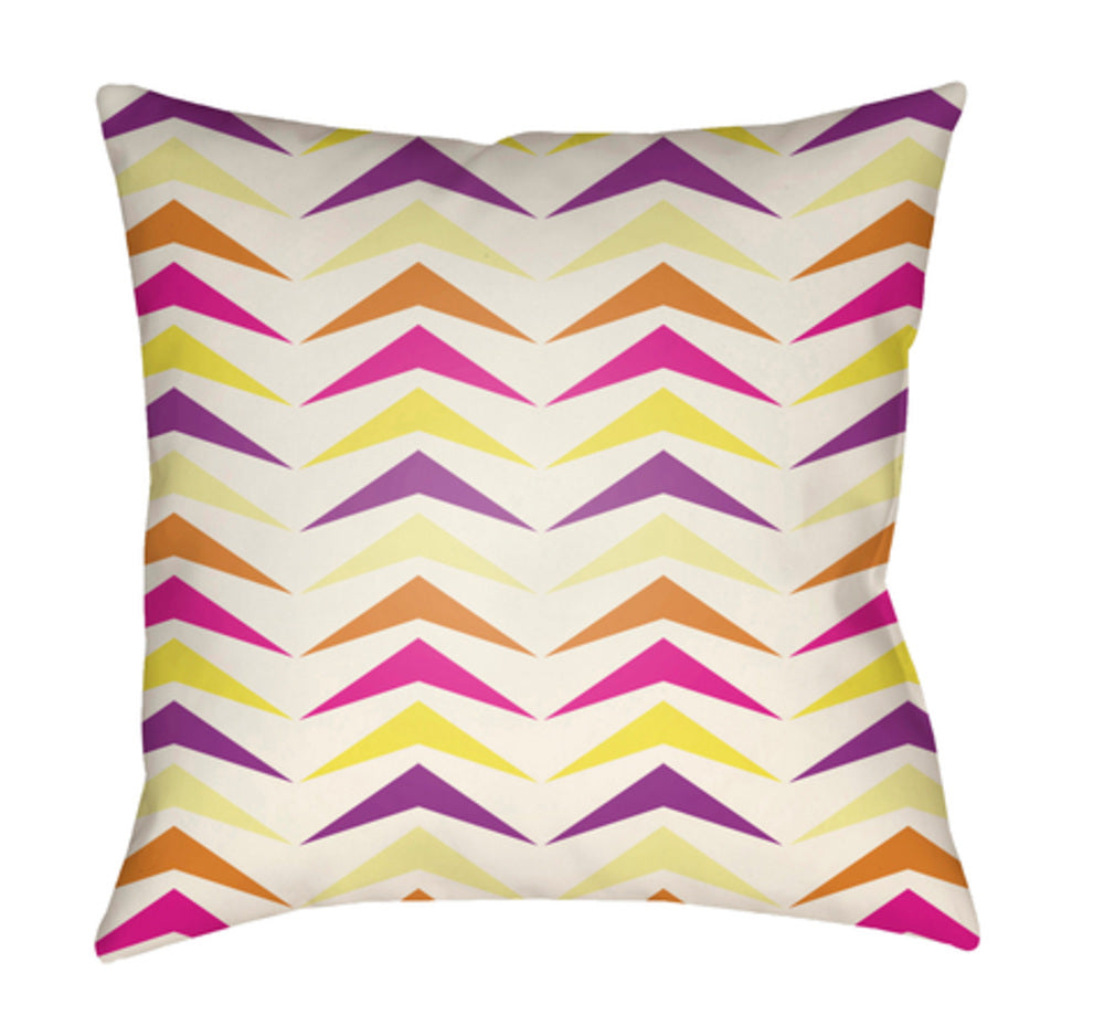 Moderne Pillow Cover - Bright Pink, White, Bright Yellow, Bright Orange - MD057