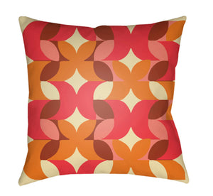 Moderne Pillow Cover - Bright Orange, Butter, Rust, Coral, Bright Red - MD093