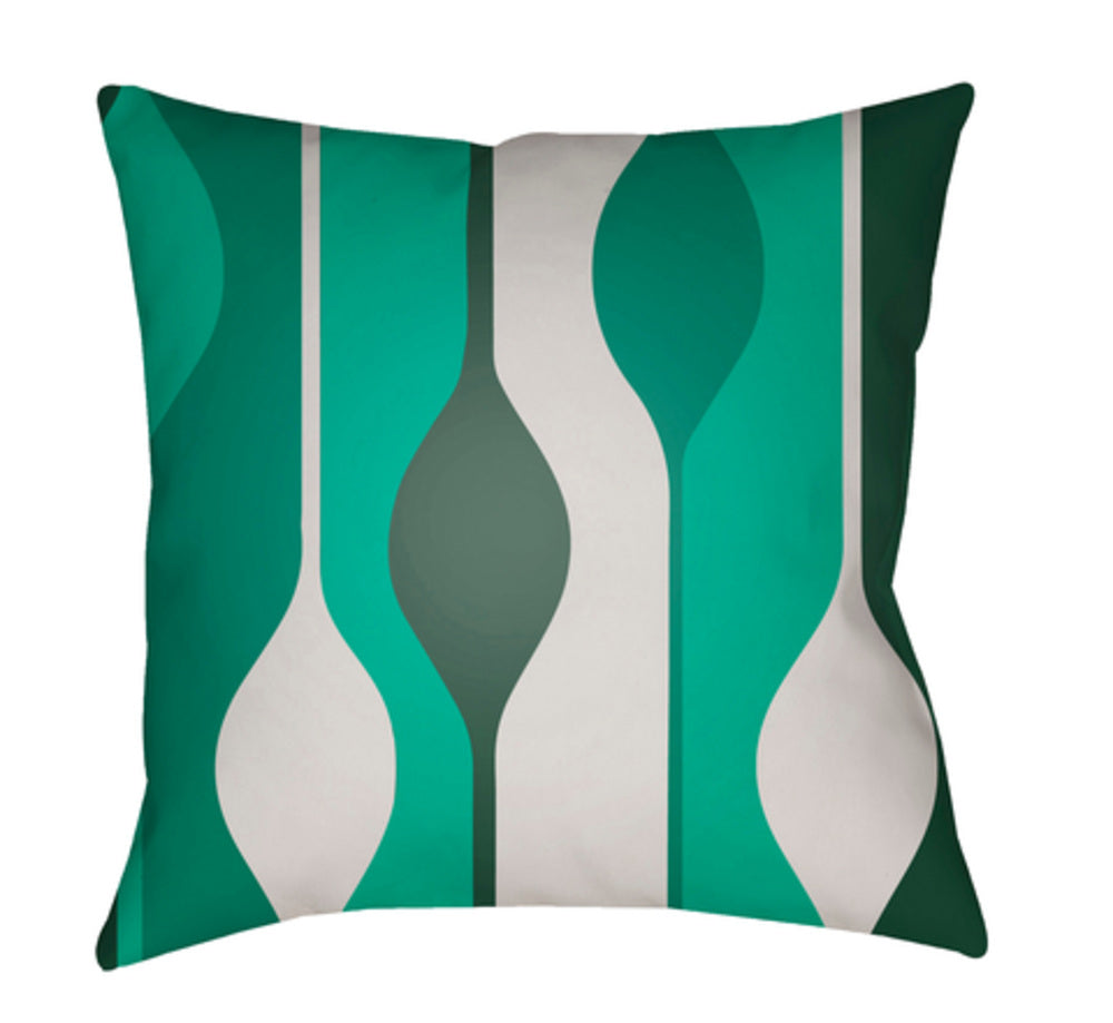 Moderne Pillow Cover - Dark Green, Ivory, Sage, Emerald - MD102