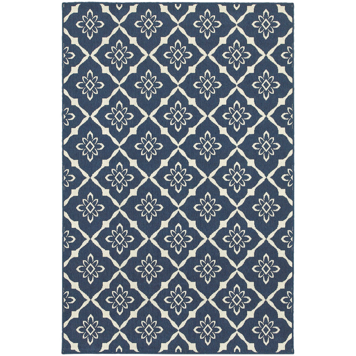 5703B Meridian Indoor/Outdoor Rug Navy/Ivory