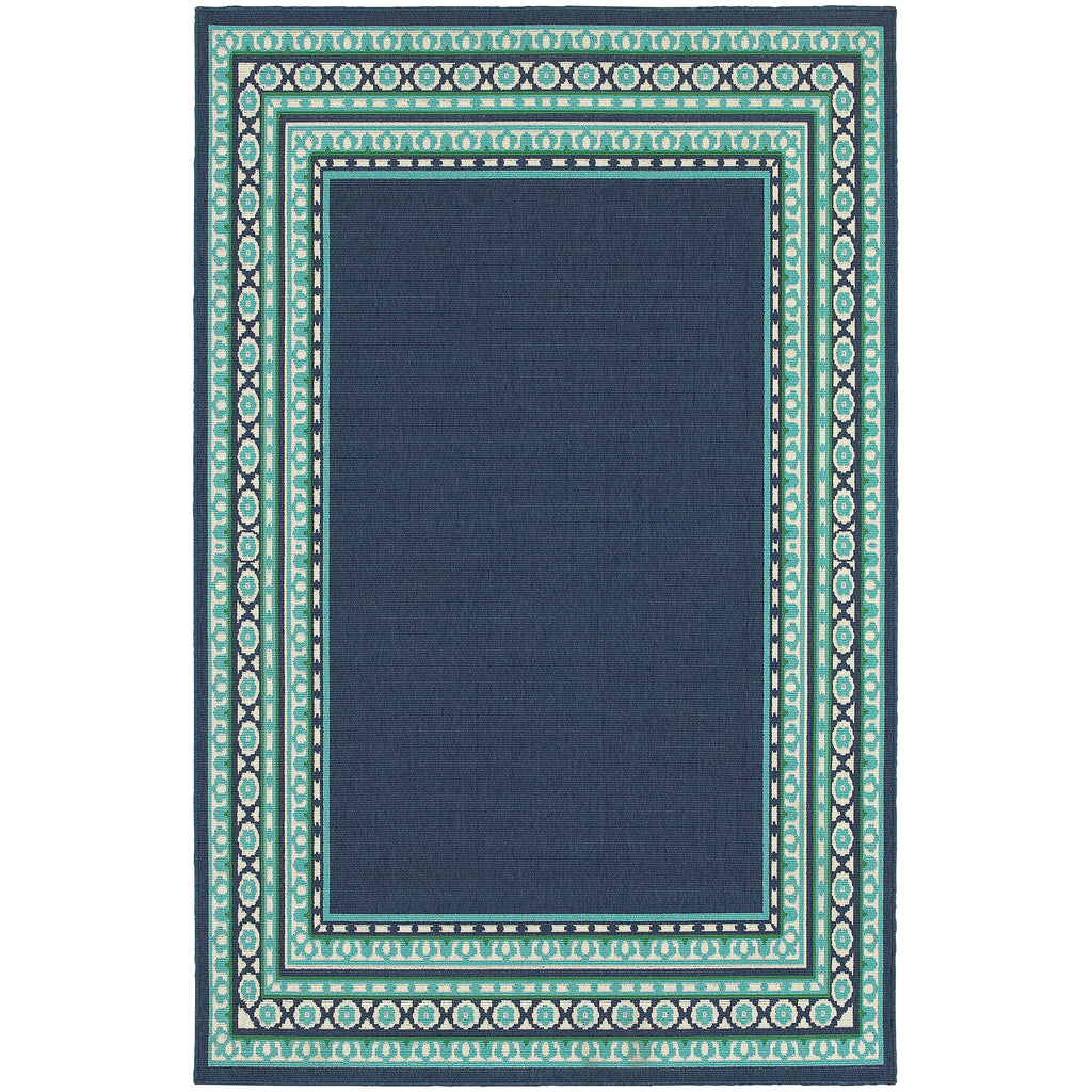 9650B Meridian Indoor/Outdoor Rug Navy/Green