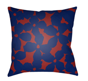 Moody Floral Pillow Cover - Rust, Violet - MF002
