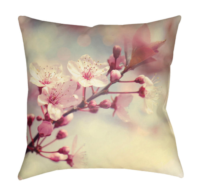 Moody Floral Pillow Cover - Coral, Bright Pink, Pear, Burgundy, Dark Brown - MF008
