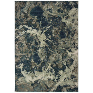 001PE Montage Indoor Area Rug Grey/ Blue