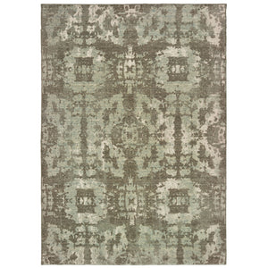 4928E Montage Indoor Area Rug Grey/ Green