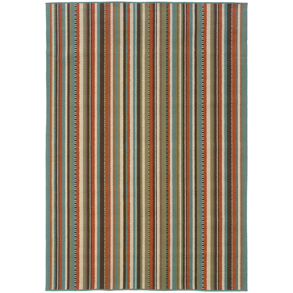 6996C Montego Indoor/Outdoor Rug Green/Blue