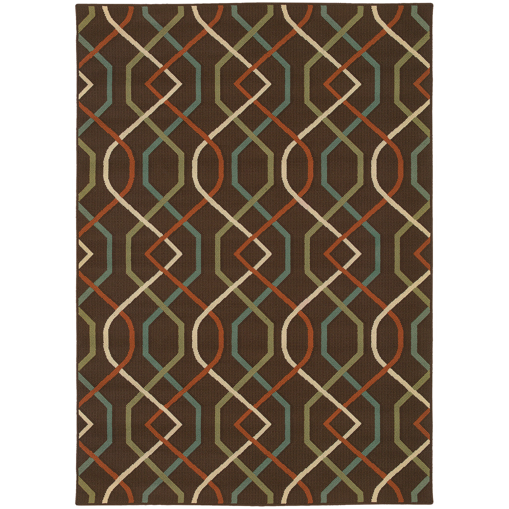 896N6 Montego Indoor/Outdoor Rug Brown/Ivory