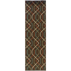 896N6 Montego Indoor/Outdoor Rug Brown/Ivory - ReeceFurniture.com