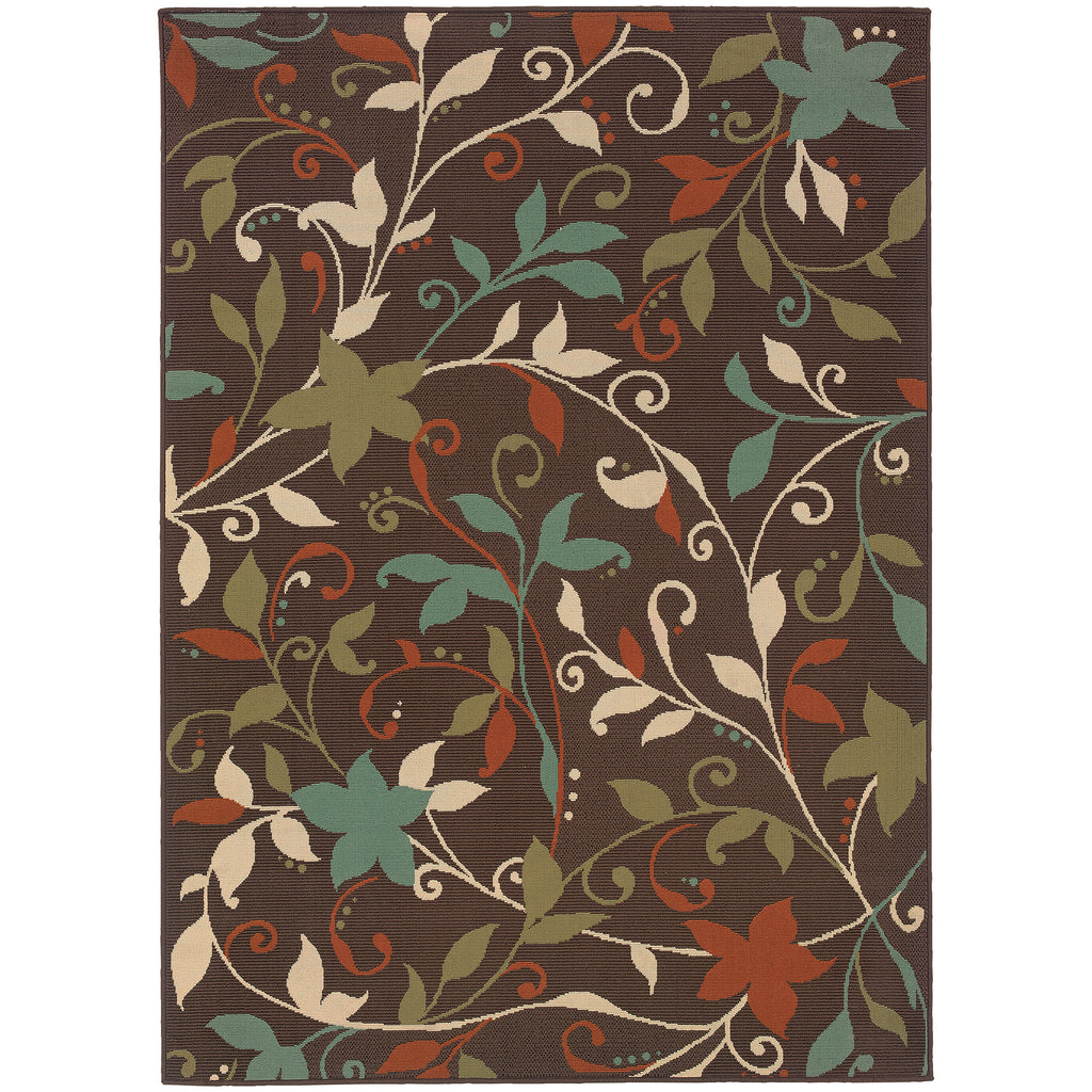 967X6 Montego Indoor/Outdoor Rug Brown/Green