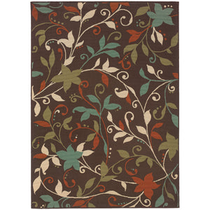 967X6 Montego Indoor/Outdoor Rug Brown/Green - ReeceFurniture.com